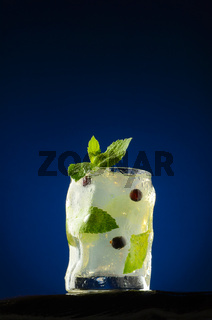 Refreshing cocktail with mint