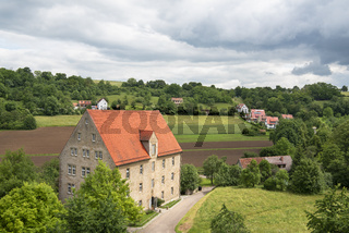 German countryside scenery on a sunny day of summer