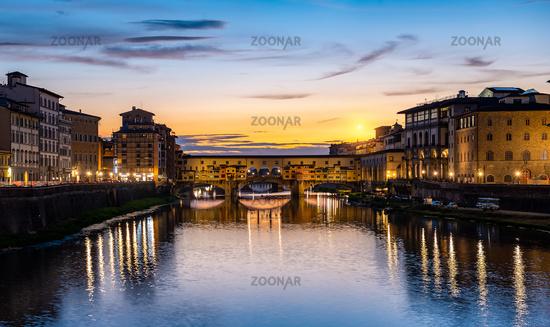 Illumination on Ponte Vecchio