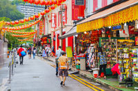 Chinatown quarter in Singapore