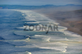 Seascape at Point Reyes, Pacific coast, California