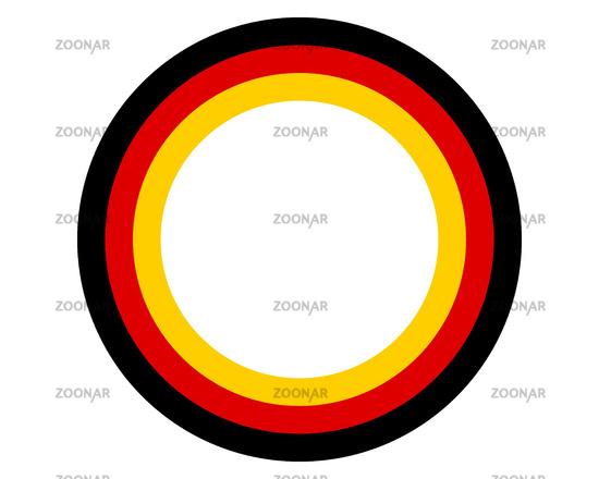 Deutsche Fahne mit Textfreiraum - German flag with copy space