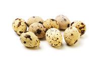 Quail eggs isolated