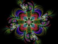 Abstract futuristic colored mandala - digitally generated image