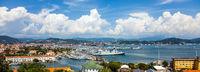 View on the port of La Spezia Liguria Italy