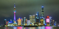 Pudong District Night Scene, Shanghai, China