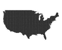 Karte der USA in rechten Maschen - Plain map of the USA