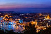 Budapest City At Twilight