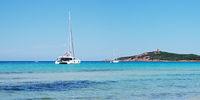Sailing Yacht in Pinarellu Bay - Corsica