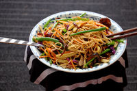 Fry noodles mixed vegetables