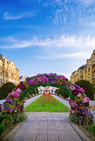 Flower arch on the square