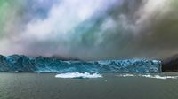 Icebergs floating at Perito Moreno Glacier