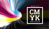 CMYK paint in the form of a 3D spiral pipe. Inside view. Vector illustration CMYK paint in the form of a 3D spiral pipe. Inside view. Vector illustration