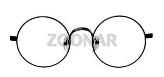 Front view of round eyeglasses