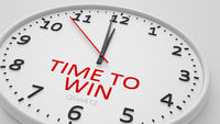 Time to win clock text modern bright style