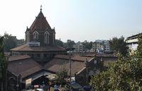 Aerial view of Mahatma Phule Mandai, Pune, Maharashtra, India