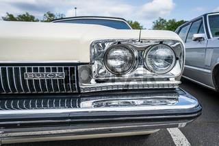 Headlamp of mid-size car Buick Skylark, 1972.