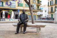 Sculpture of Picasso in Malaga, Spain