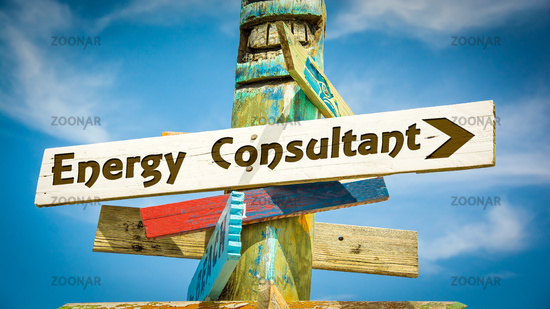 Street Sign ENERGY CONSULTANT