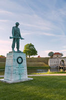 Vore Faldne is a memorial to the fallen Danes in the World War II. Designed by Svend Lindhart