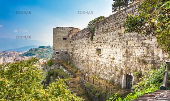 The castle in Brescia Lombardy in Italy