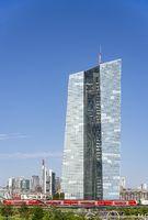 ECB with skyline of Frankfurt
