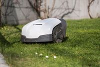 Lawnmower provides short lawn - Close up automower