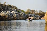 Marble rocks, Narmada river, Bedhaghat, Madhya Pradesh, India