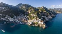 Aerial view of Amalfi town, Italy