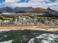 Aerial photo of Cape Town and Tabble Mountain