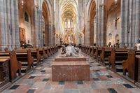 interior of Vitus Cathedral, Czech Republic