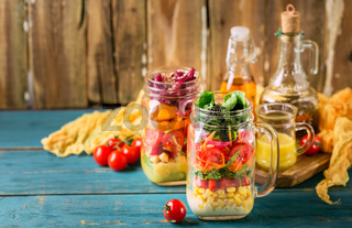 Healthy Homemade Jar Salad