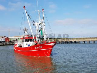 krabbenkutter, hafen, havneby