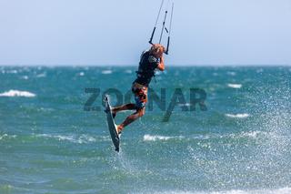 Kitesurfing, Kiteboarding action photos