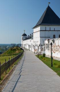 The eastern wall of Tobolsk Kremlin. Tobolsk. Siberia. Russia