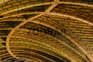 Ceiling Detail at Guell Crypt Interior, Catalunya, Spain