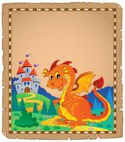 Dragon and castle theme parchment 4