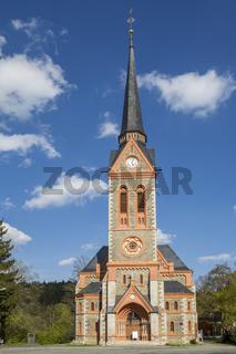 Evangelisch-Lutherische St. Trinitatiskirche in Bad Elster, Sachsen, Vogtland, Deutschland,Europa