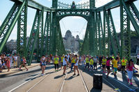 People dancing on Liberty bridge