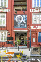 Old Warehouses Converted Into Shops and Restaurants Trondheim Norway