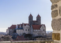 view of the cathedral of quedlinburg