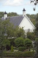 well-kept, white villa