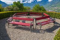 Burglehen Park in Tyrol village, South Tyrol