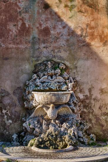 Fountain at Orange Garden in Rome