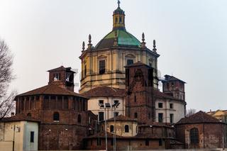 Milan, Italy Basilica di San Lorenzo Maggiore facade.