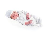 healthy newborn baby one week old sleeping