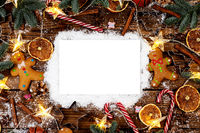 Christmas food frame