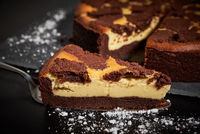 Russian Chocolate Cheesecake with Cake Lifter