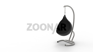 3d rendering of a hanging egg chair isolated in white studio background