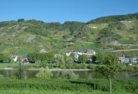 Wine Village of Valwig in Mosel Valley at Mosel River,Rhineland-Palatinate,Germany